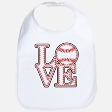 Love Baseball Stitch 4 Lght Bib