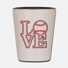 Love Baseball Stitch 4 Lght Shot Glass