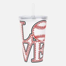Love Baseball Stitch 4 Acrylic Double-wall Tumbler