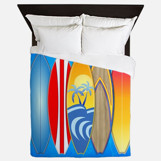 Surfboards Queen Duvet