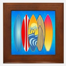 Surfboards Framed Tile
