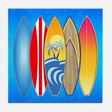 Surfboards Tile Coaster