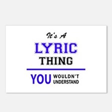 It's LYRIC thing, you wou Postcards (Package of 8)