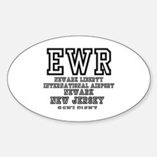 AIRPORT CODES - EWR - NEWARK LIBERTY, NEW Decal