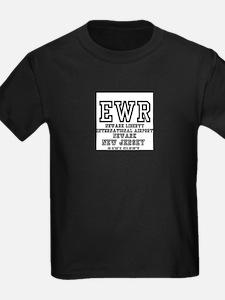 AIRPORT CODES - EWR - NEWARK LIBERTY, NEW T-Shirt