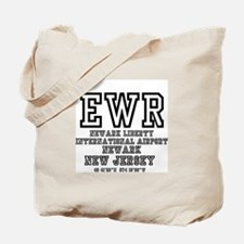 AIRPORT CODES - EWR - NEWARK LIBERTY, NEW Tote Bag