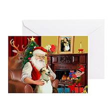 Santas Borzoi Greeting Cards (Pk of 10)