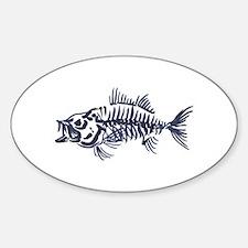 Mean Fish Skeleton Decal