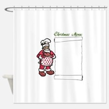 Christmas Menu Shower Curtain