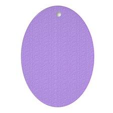 Lavender Satin Look Ornament (Oval)
