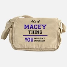 It's MACEY thing, you wouldn't under Messenger Bag