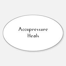 Accupressure Heals Oval Decal