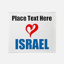 Loves Israel Throw Blanket