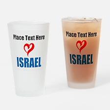 Loves Israel Drinking Glass