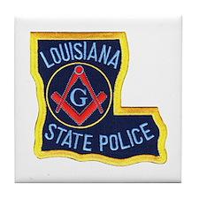 LA State Police Mason Tile Coaster