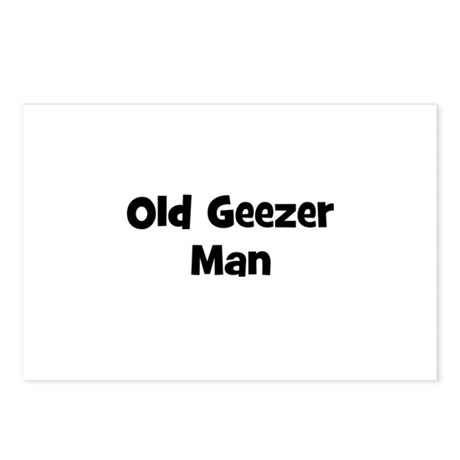 Old Geezer Man Postcards (Package of 8)