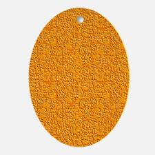 Rough Orange Oval Ornament