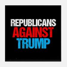 Republicans Against Trump Tile Coaster
