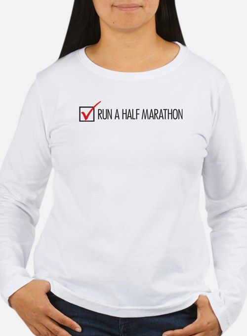 Run a Half Marathon Check Box Long Sleeve T-Shirt