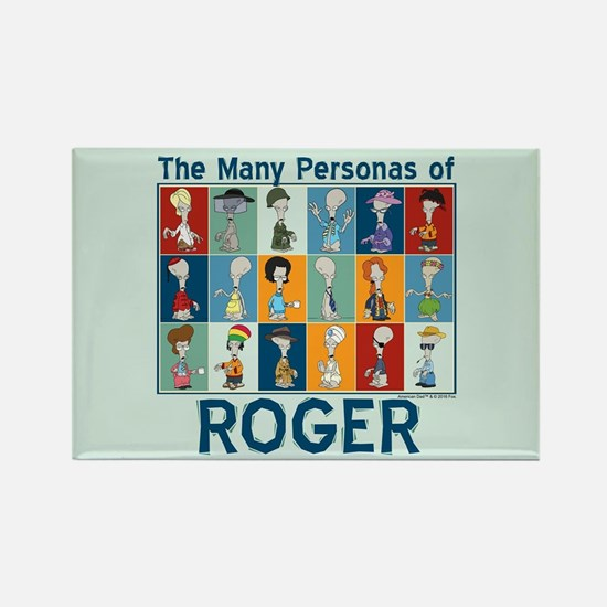 American Dad Roger Personas Rectangle Magnet