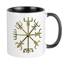 Gold Vegvisir 1 Small Mugs
