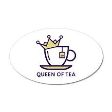 Queen Of Tea 22x14 Oval Wall Peel