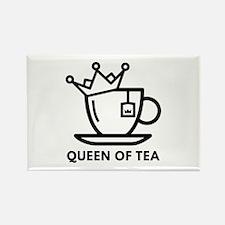 Queen Of Tea Rectangle Magnet