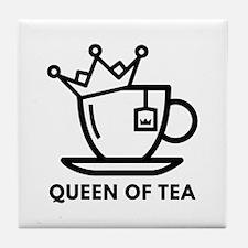 Queen Of Tea Tile Coaster