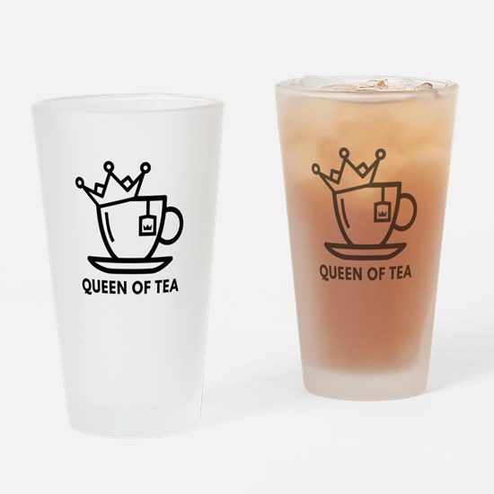Queen Of Tea Drinking Glass