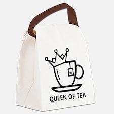 Queen Of Tea Canvas Lunch Bag