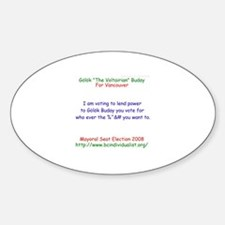 Buday 2008 Oval Decal