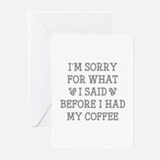 Before I Had My Coffee Greeting Cards (Pk of 20)