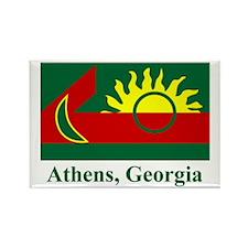 Athens GA Flag Rectangle Magnet (100 pack)