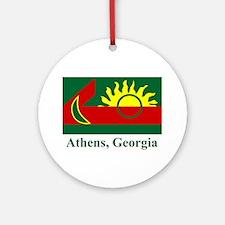 Athens GA Flag Ornament (Round)