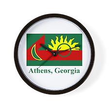 Athens GA Flag Wall Clock