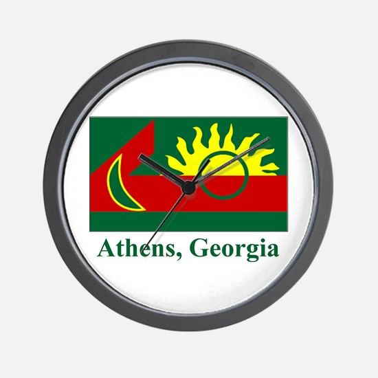 Athens GA Flag Wall Clock