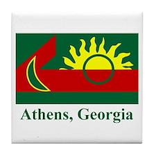 Athens GA Flag Tile Coaster