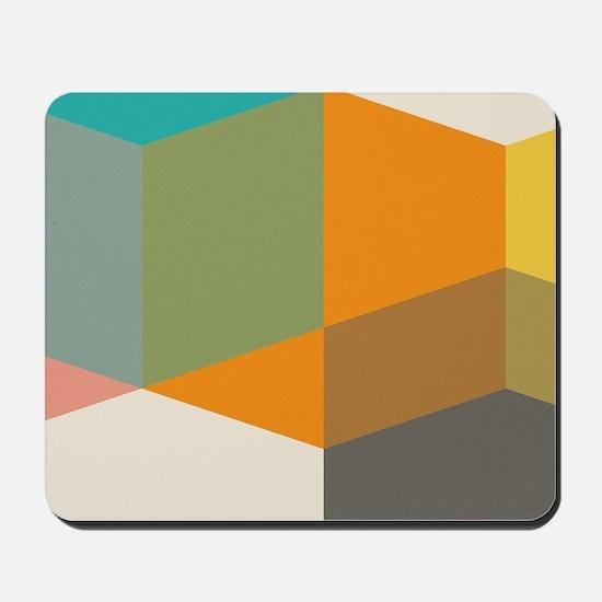 Color Study Cubes Mousepad