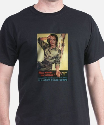 Military Nurse WWII T-Shirt