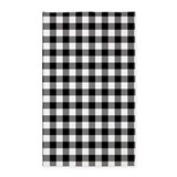 Black and white gingham 3x5 Rugs