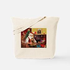 Santa's Cocker (bn) Tote Bag