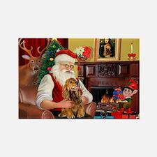 Santa's Cocker (bn) Rectangle Magnet (10 pack)