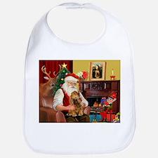 Santa's Cocker (bn) Bib