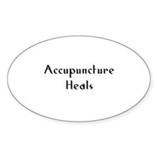 Accupuncture Heals Oval Decal