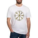 Gold Vegvisir Fitted T-Shirt