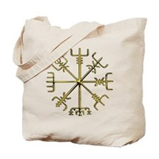 Gold Vegvisir Tote Bag