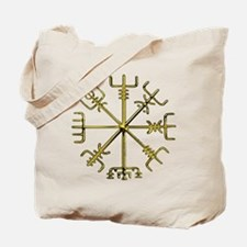 Gold Vegvisir Tote Bag