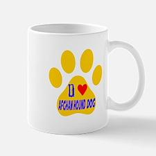 I Love Afghan Hound Dog Mug