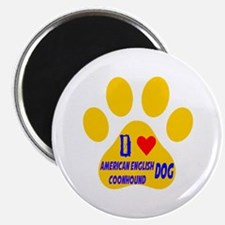 I Love American English Coonhound Dog Magnet