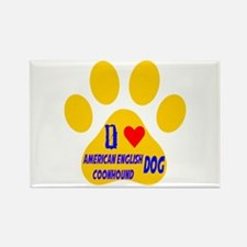 I Love American English Coonhound Rectangle Magnet